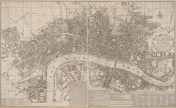 A New and Exact PLAN of the CITIES OF LONDON & WESTMINSTER and the Borough of SOUTHWARK. With all y.e Additional New Buildings to y.e Present Year 1724